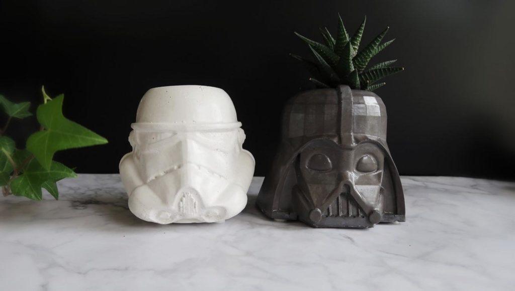 Star Wars Blumentöpfe für Sukkulenten.