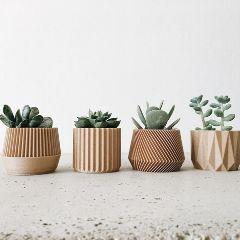 Die Holz Töpfe von MinimumDesign sind modern und clean zugleich.
