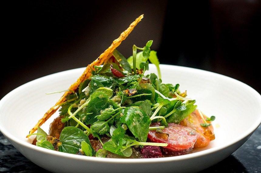 Peperomia als Salat zum essen.